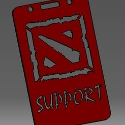 Télécharger fichier 3D Dota support-2D- badge d'identification ou porte-carte de crédit, cristianalin007