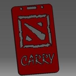 Impresiones 3D Dota llevar-2D identificación de la tarjeta de crédito o titular de la tarjeta de crédito, cristianalin007
