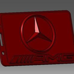 Download 3D printer model Mercedes-3D badge ID or credit card holder, cristianalin007