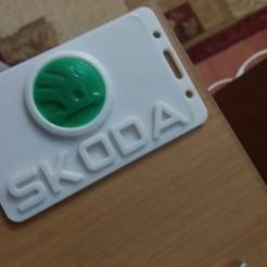 Imprimir en 3D Tarjeta de identificación Skoda-3D o titular de una tarjeta de crédito, cristianalin007