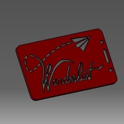 Download 3D print files Wanderlust-2D badge ID or credit card holder, cristianalin007