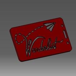 Descargar diseños 3D Tarjeta de identificación de Wanderlust-2D o titular de una tarjeta de crédito, cristianalin007