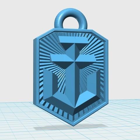 Télécharger objet 3D gratuit Porte-clés avec le logo de World of Warships, shuranikishin