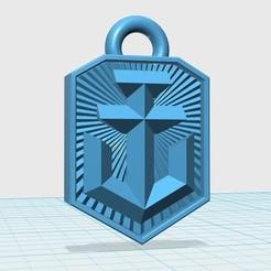 Free STL files World of Warships logo keychain, shuranikishin