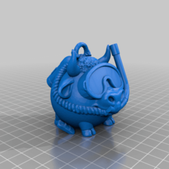 Diver2021_lo.png Download free STL file New year symbol diver • 3D printing design, shuranikishin