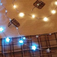 Download free 3D printer designs Christmas garland / Гирлянда на светодиодах WS, shuranikishin