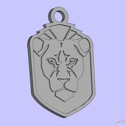 Imprimir en 3D gratis llavero león, shuranikishin