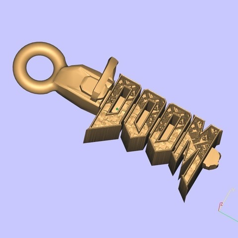 Télécharger plan imprimante 3D gatuit Porte-clés DOOM, shuranikishin