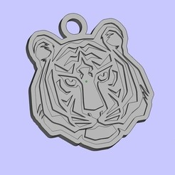 Free 3D printer designs tiger keychain, shuranikishin