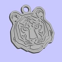 Descargar modelo 3D gratis llavero tigre, shuranikishin