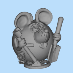 2019-12-26_14-34-14.png Download free STL file mouse with metal detector • 3D printing model, shuranikishin