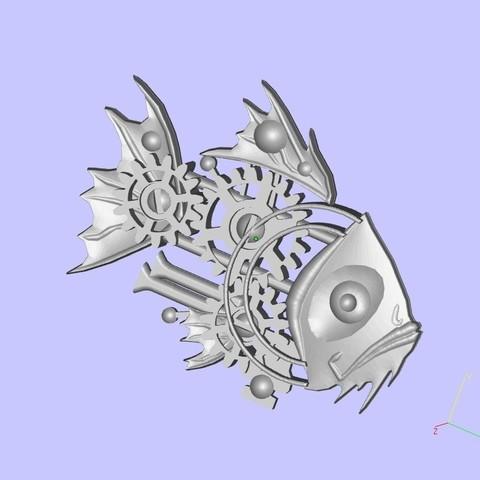 Download free 3D print files Steampunk Fish, shuranikishin