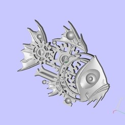 Download free 3D print files Steampunk Fish, shuranikishin