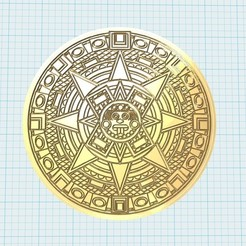 Download free 3D print files aztec calendar 3, shuranikishin