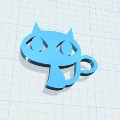 Télécharger objet 3D gratuit porte-clés chat, shuranikishin