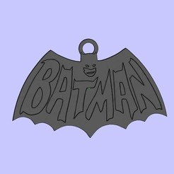 Free 3D printer designs Batman keychain, shuranikishin