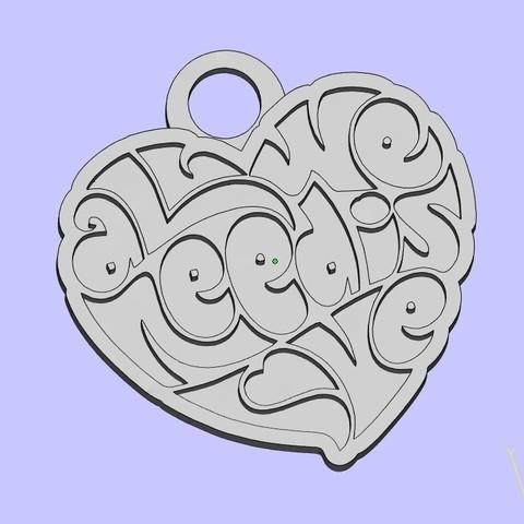 Télécharger objet 3D gratuit les beatles tout ce dont nous avons besoin c'est d'amour 2 porte-clés, shuranikishin