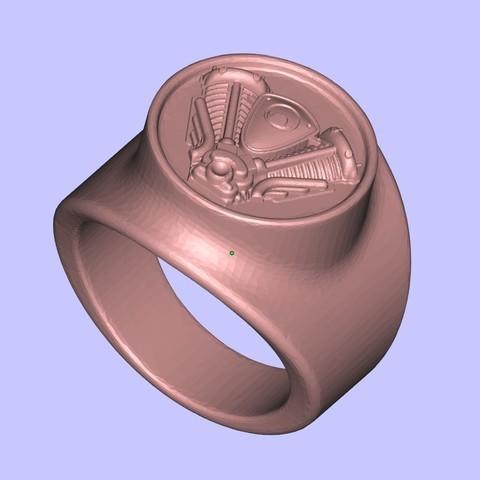 Download free 3D printer model Harley logo ring, shuranikishin