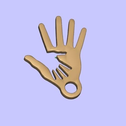 Télécharger fichier impression 3D gratuit Porte-clés 2 mains, shuranikishin