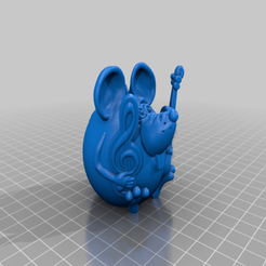 mouse_musician.png Download free STL file Mouse musician • 3D print template, shuranikishin