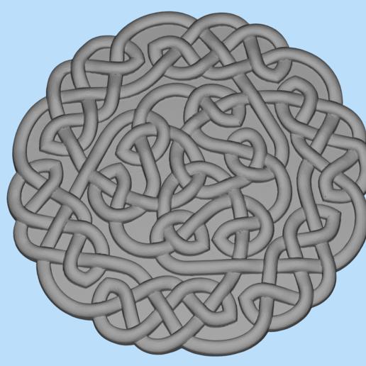 Télécharger modèle 3D gratuit motif celtique, shuranikishin