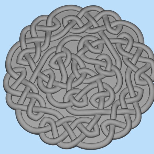 Download free 3D printing files celtic pattern, shuranikishin