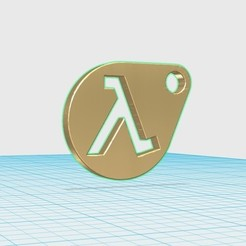 Free 3D printer designs HalfLife keychain, shuranikishin