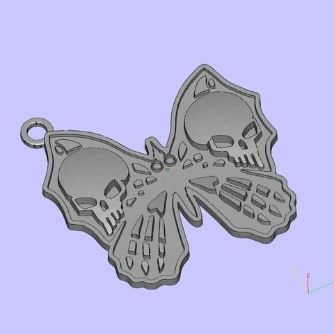 Free STL file butterfly keychain, shuranikishin