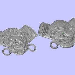 Download free 3D printing templates MotoSkull 6 barel'ef, shuranikishin