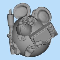 Descargar modelo 3D gratis Reparador de TV con ratón, shuranikishin