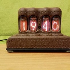 Download free 3D printing models Nixie clock IN-14, shuranikishin