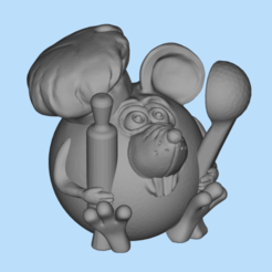 2019-12-23_13-26-27.png Download free STL file Mouse Cook • Design to 3D print, shuranikishin