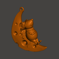2019-11-29_14-32-51.png Download free STL file mouse on the moon • 3D printing template, shuranikishin