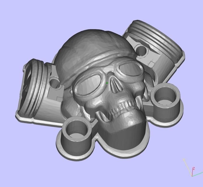 952568ffd7880c6a6cb1977a72ed6f90_display_large.jpg Télécharger fichier STL gratuit MotoSkull2 • Objet pour impression 3D, shuranikishin