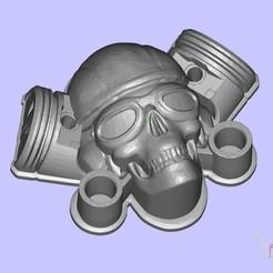 Free 3D printer files MotoSkull2, shuranikishin