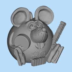 Descargar diseños 3D gratis jugador de hockey con ratón, shuranikishin