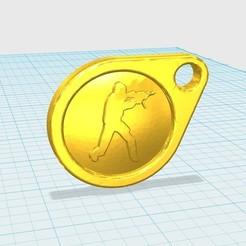 Free STL cs go logo keychain, shuranikishin