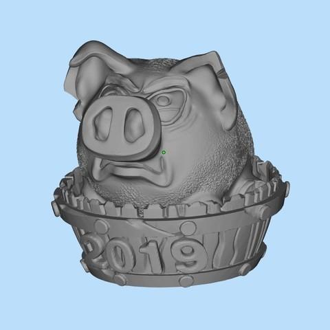 95fdbdaf4d42d2d4d3b57ec91e6cb54e_display_large.jpg Télécharger fichier STL gratuit Piggy en colère 2019 (Злая хрюшка 2019) • Design à imprimer en 3D, shuranikishin