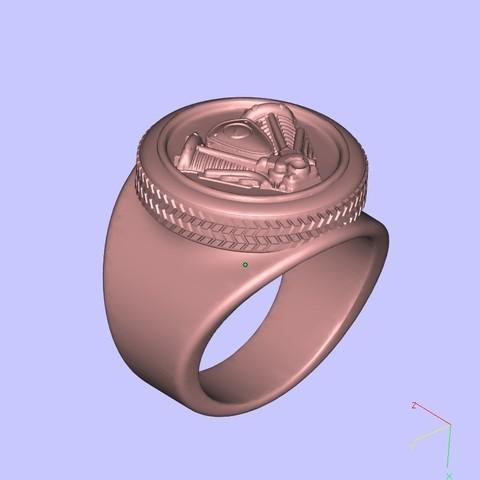 Download free 3D printing designs harley logo ring remix, shuranikishin
