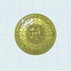 d4b63258671d2749f6cdc7cc2689265e_display_large.jpg Télécharger fichier STL gratuit médaille aztèque • Plan pour imprimante 3D, shuranikishin