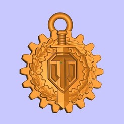 Free 3D printer designs WOT logo keychain, shuranikishin