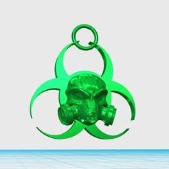 Imprimir en 3D gratis llavero de peligro biológico, shuranikishin