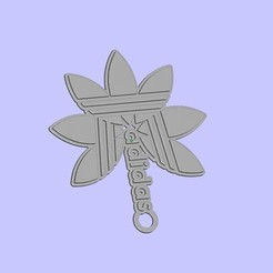 Free 3D printer model adidas keychain, shuranikishin