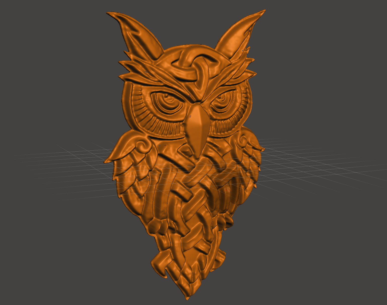 2019-08-16_00-55-19.png Download free STL file celtic owl • 3D printable object, shuranikishin