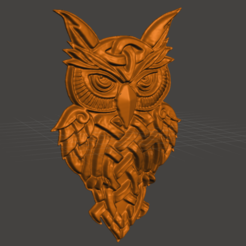 Download free 3D printer files celtic owl, shuranikishin