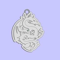 Impresiones 3D gratis llavero dragón, shuranikishin