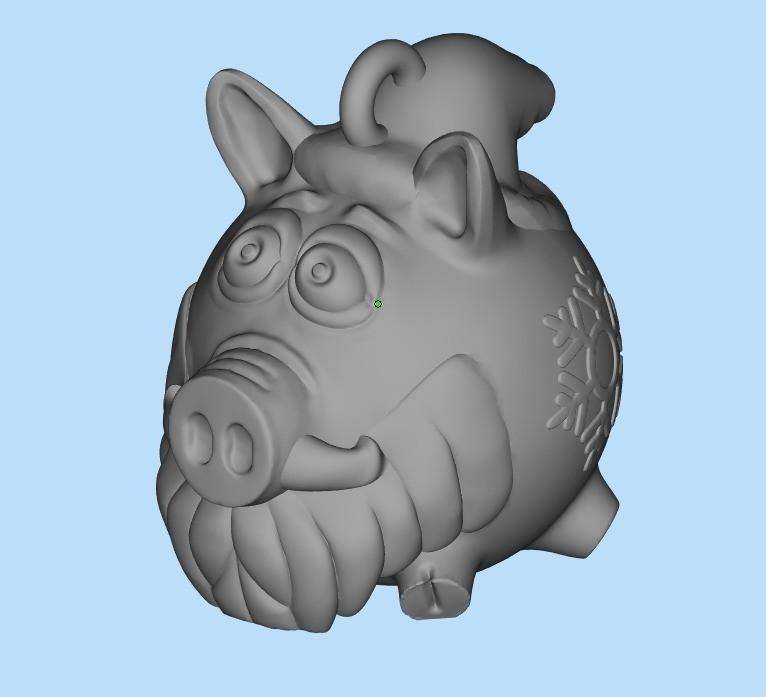 ef36bf7149d4928be9be3cc697e0b491_display_large.jpg Télécharger fichier STL gratuit Cochon de père Noël • Objet pour impression 3D, shuranikishin