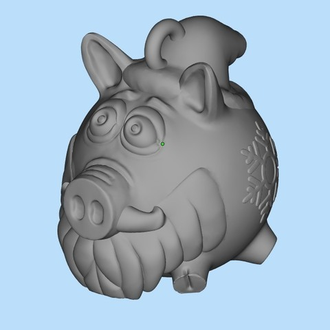 Télécharger plan imprimante 3D gatuit Cochon de père Noël, shuranikishin