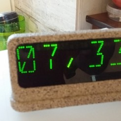 Download free 3D printing files LED Clock from RoboC, shuranikishin