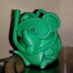 Download free 3D printer designs mouse diver 2020, shuranikishin